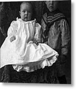 Young Ernest Lawrence And Brother, 1904 Metal Print