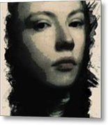 Young Faces From The Past Series By Adam Asar, No 75 Metal Print