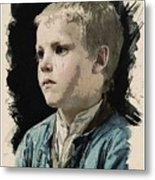 Young Faces From The Past Series By Adam Asar, No 77 Metal Print