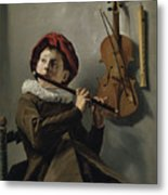 Young Flute Player , Judith Leyster, 1630 Metal Print