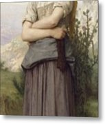 Young Girl, By William-adolphe Bouguereau Metal Print