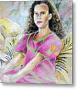 Young Girl From Tahiti Metal Print