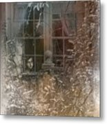 Young Girl Sitting At Window Metal Print