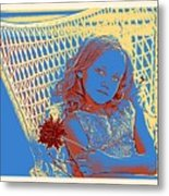Young Girl With Blue Eyes Metal Print