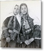 Young Girls Of Bethlehem Year 1896 Metal Print