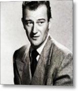 Young John Wayne, Hollywood Legend Metal Print