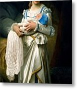 Young Lady And The Baby Metal Print