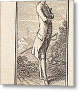 Young Man Bareheaded, With Sword Metal Print