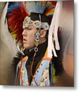 Pow Wow Young Man Metal Print