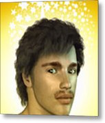 Young Man Metal Print