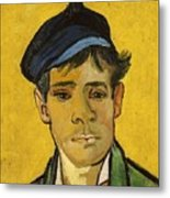 Young Man With A Hat Metal Print