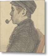 Young Man With A Pipe Nuenen, March 1884 Vincent Van Gogh 1853 - 1890 Metal Print
