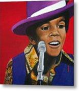 Young Michael Jackson Singing Metal Print