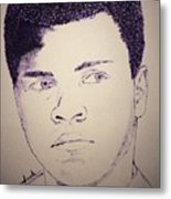 Young Muhammad Ali Metal Print