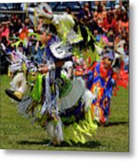 Young Native Indian  Boys Dancing In Tiny Tots Competition At A  Metal Print