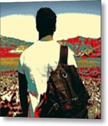 Young Traveller Metal Print