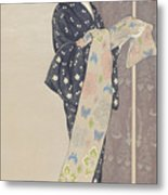 Young Woman In A Summer Kimono, 1920 Metal Print
