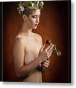 Young Woman Nude 1729.175 Metal Print