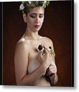 Young Woman Nude 1729.176 Metal Print
