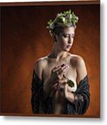Young Woman Nude 1729.179 Metal Print