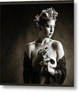 Young Woman Nude 1729.554 Metal Print