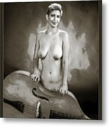 Young Woman Nude 1729.575 Metal Print