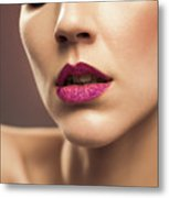 Young Woman With Flawless Makeup Metal Print