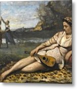 Young Women Of Sparta By Jean-baptiste-camille Corot, 1868-1870. Metal Print
