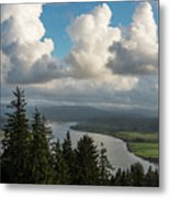 Youngs Bay And Clouds Metal Print