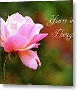 Your In My Thoughts Painting Metal Print