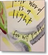 Your Word Is A Light Metal Print