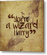 You're A Wizard Harry Metal Print