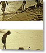 Youth At The Water Metal Print