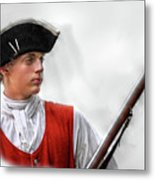 Youthful Soldier With Musket Metal Print by Randy Steele