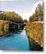 Yukon River And Miles Canyon - Whitehorse Metal Print
