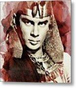 Yul Brynner, Vintage Actor Metal Print