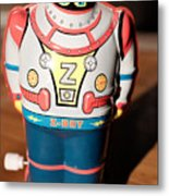 Z-bot Robot Toy Metal Print