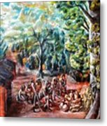 Thanks-giving In A Sacred Shrine Metal Print