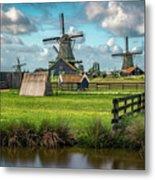 Zaanse Schans And Farm Metal Print