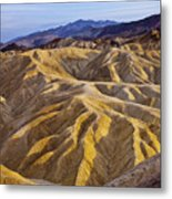 Zabriskie Badlands Metal Print