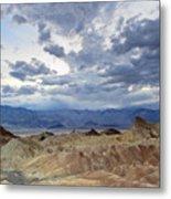 Zabriskie Point Twilight Death Valley Metal Print