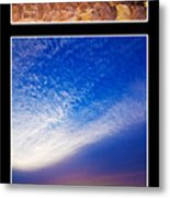 Zabriskie Sunset Duo Metal Print