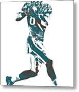 Zach Ertz Philadelphia Eagles Pixel Art 1 Metal Print