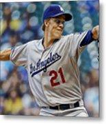 Zack Greinke Los Angeles Dodgers Metal Print