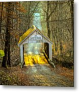 Zacke Cox Covered Bridge Metal Print