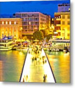 Zadar Colorful Blue Evening View Metal Print