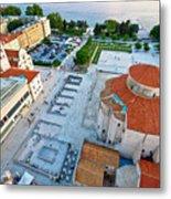 Zadar Forum Square Ancient Architecture Aerial View Metal Print