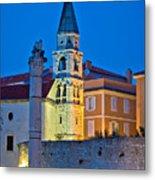 Zadar Landmarks Evening Vertical View Metal Print