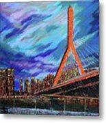 Zakim Bridge - Boston Metal Print