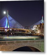 Zakim Bridge Metal Print